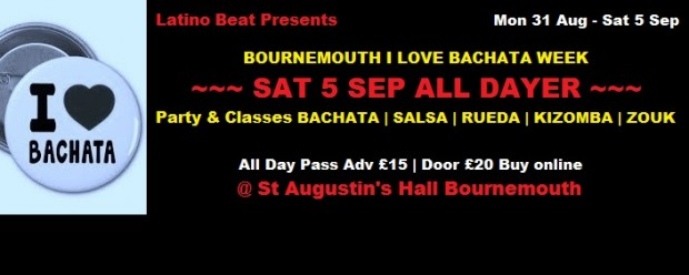 Bachata I love Sat 5 Sept