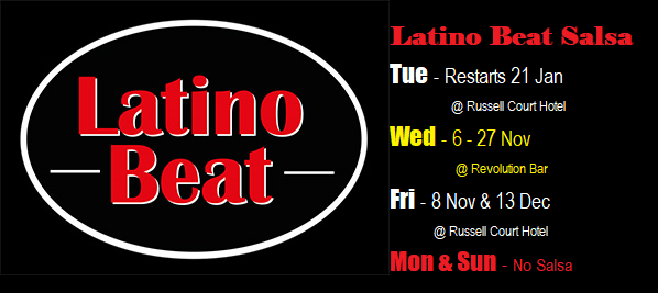 Latino Beat Club Night Nov - Jan