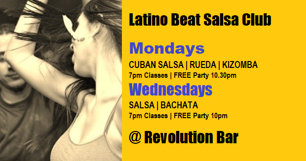 Latino Beat Monday & Wednesday March 2019