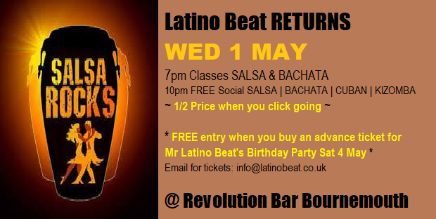Latino Beat Returns 1st May 2019