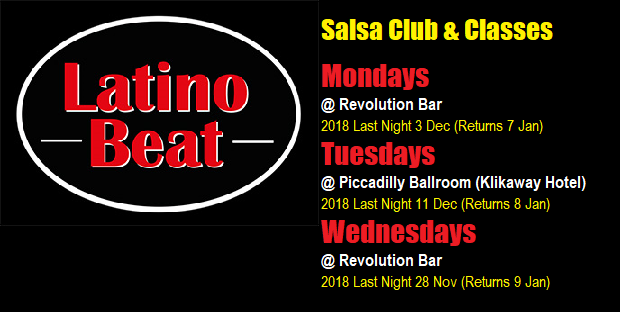 Latino Beat Salsa Club & Classes Banner