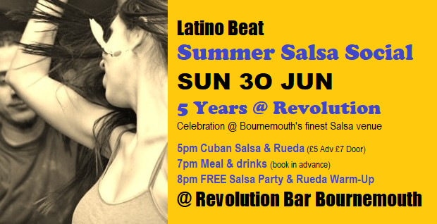 Latino Beat Summer Social Sun 30 June
