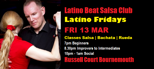 Latino Fridays 13 Mar 2020 banner