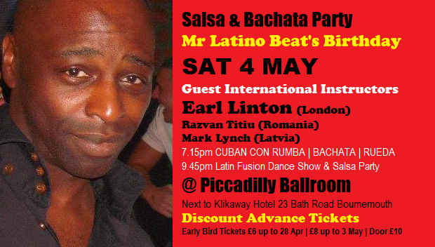 Mr Latino Beat Salsa & Bachata Party Sat 4 May 2019 cropped