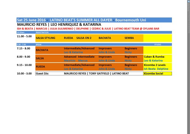 Sat 25 June Timetable Evening landscape