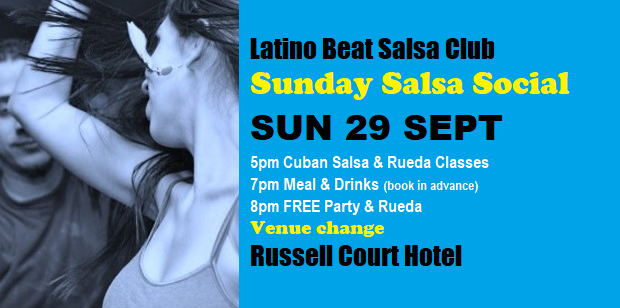 Sunday Salsa Social Sun 29 Sept - Russell Court edited