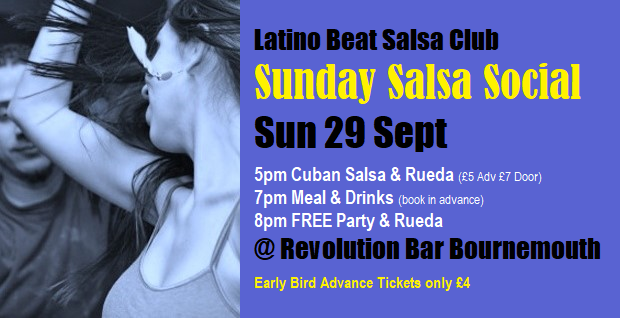 Sunday Salsa Social Sun 29 Sept